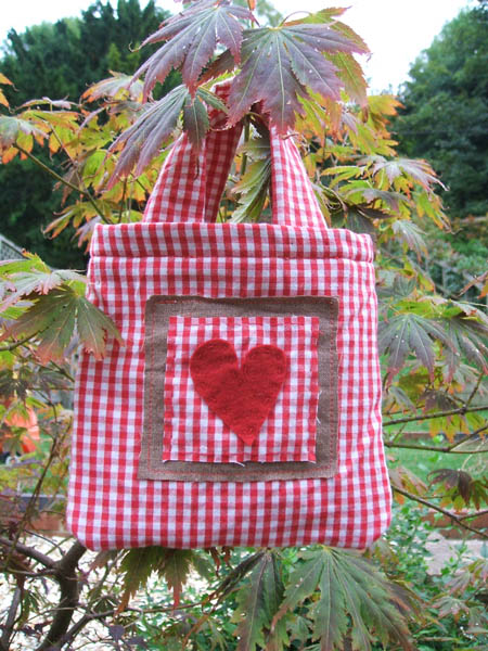little gingham bag