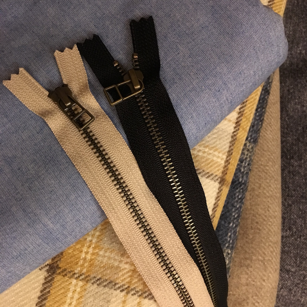 zips and fabric